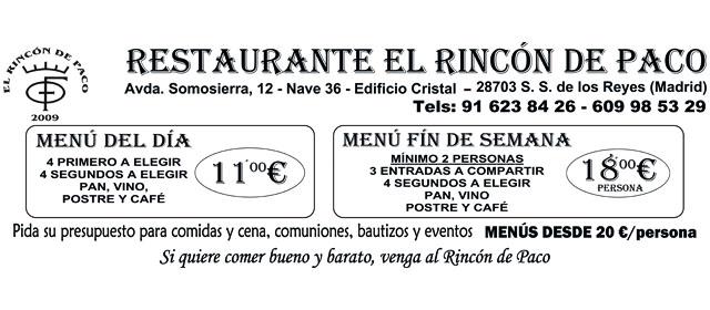 Restaurante Rincón de Paco